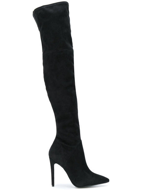 KENDALL+KYLIE women suede black shoes