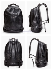 bag,backpack,leather backpack,python,marc by marc jacobs,marc jacobs,black,women,black bag,mens bag,open back