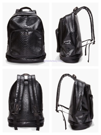 bag bag woman backpack leather backpack python marc by marc jacobs marc jacobs black woman black bag mens bag open back