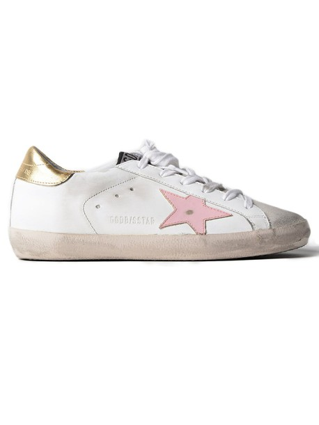 Golden goose sneakers. sneakers pink gold white shoes