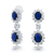 Cz Crown Sapphire Color Cluster Chandelier Earrings