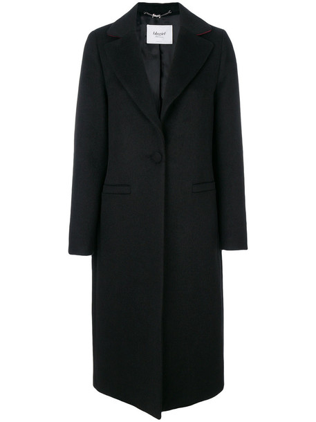 Blugirl coat women cotton black wool