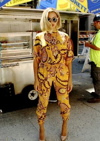 jumpsuit beyonce queenbey yellow brazil new