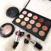 make-up,makeup palette,eye shadow,autumn make-up palette,mac cosmetics,mac lipstick,nude palette,nude lipstick