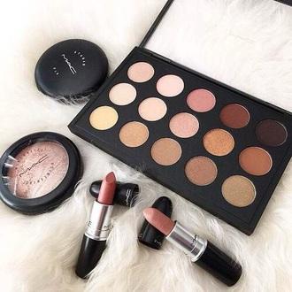 make-up makeup palette eye shadow autumn make-up palette mac cosmetics mac lipstick nude palette nude lipstick