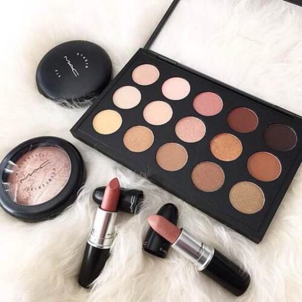 make-up makeup palette eye shadow autumn make-up palette mac cosmetics mac lipstick