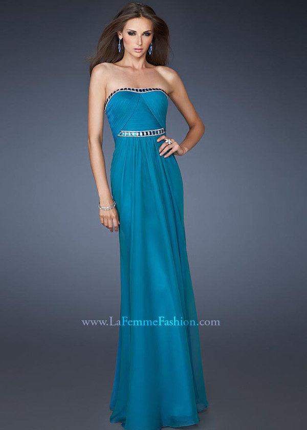 dress long prom dress teal dress la femme
