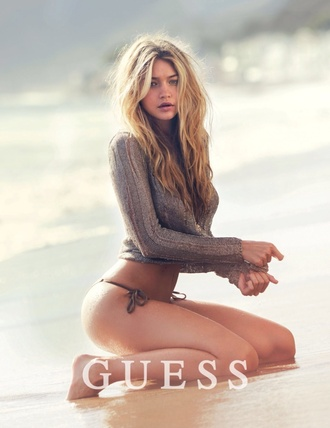 gigi hadid style guess model grey sweater