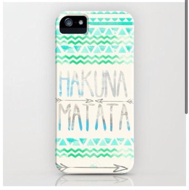 phone cover disney aztec green blue grey triangles squiggles aqua hakuna matata turquiose
