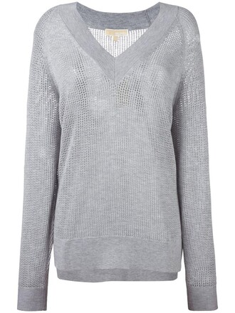 sweatshirt women grey sweater