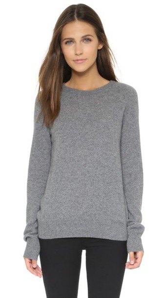 Equipment Sloane Cashmere Sweater - Heather Grey