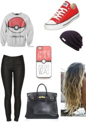 sweater,pokemon,oversized sweater,belt,shirt,charmander,squirtle,poem,grey sweater,hat
