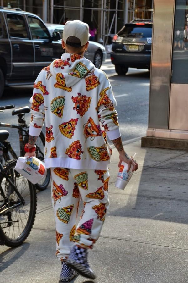 sweater pizza sweatpants