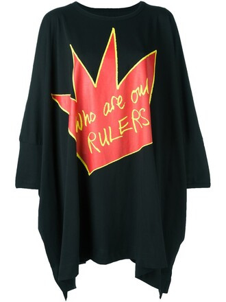 t-shirt shirt oversized t-shirt oversized women cotton print black top