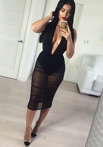 dress sexy black dress fashion cute clubwear little black dress new deelishis