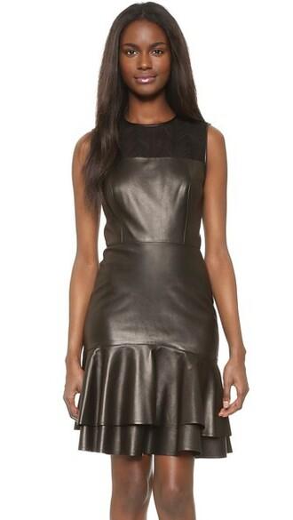 dress sleeveless dress sleeveless leather black