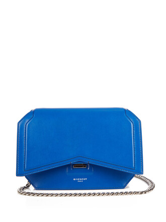 bow cross classic bag leather blue