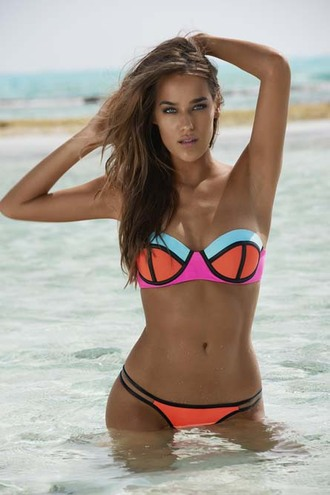 swimwear bikini 2016 pilyq 2016 bandeau bikini neon swimsuit designer swimwear elite fashion swimwear