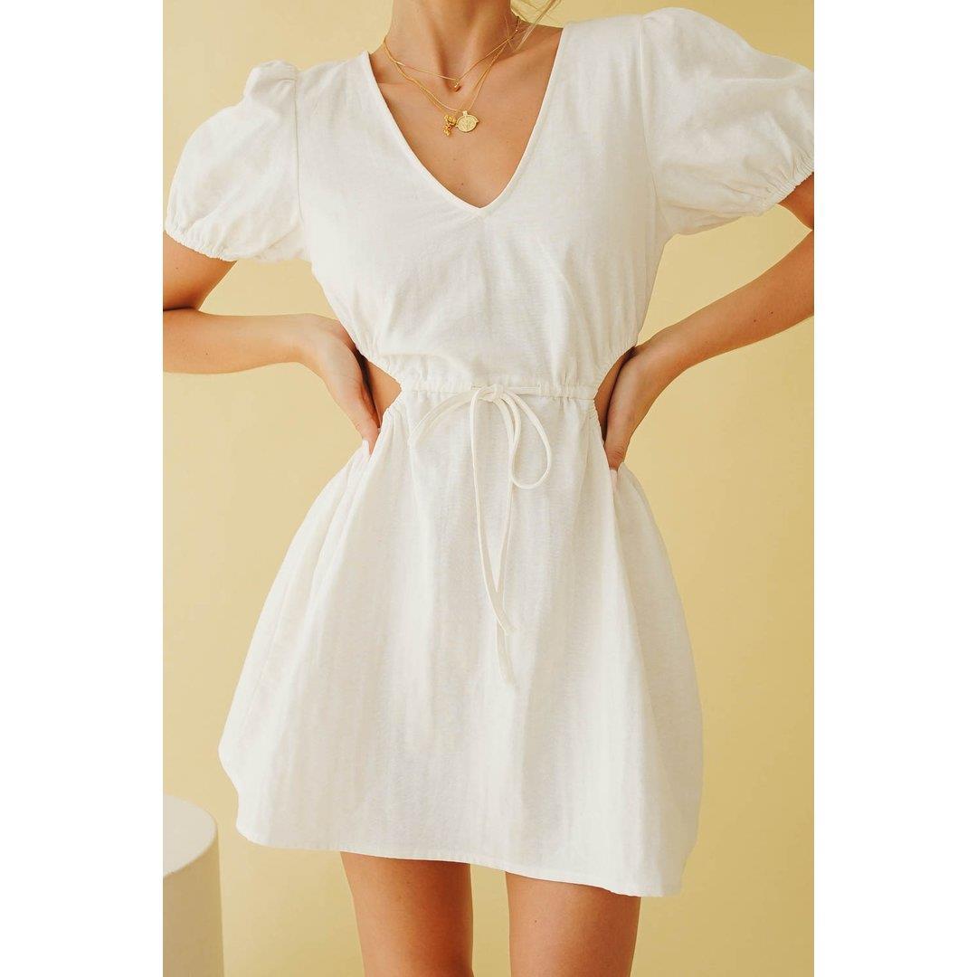 Under The Palms Mini Dress // White