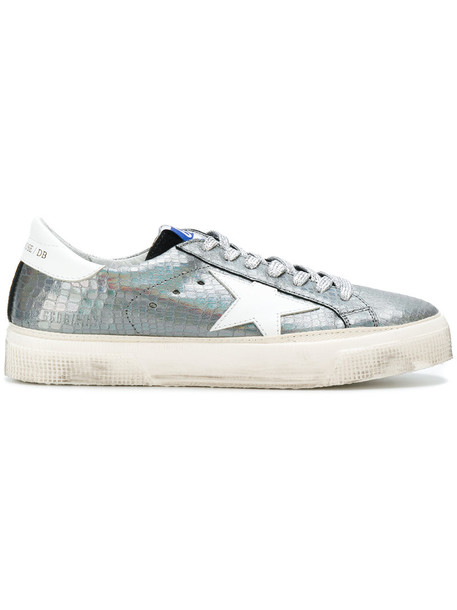 GOLDEN GOOSE DELUXE BRAND women sneakers leather grey metallic shoes