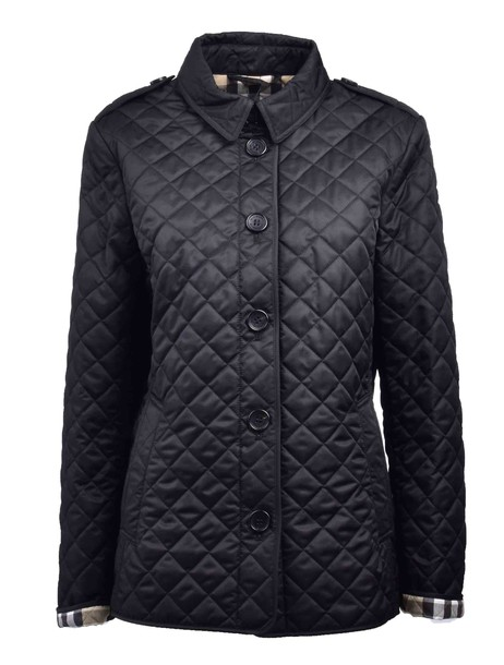 Burberry jacket quilted black