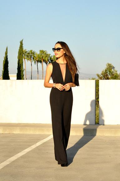 hapa time jumpsuit bag sunglasses shoes blogger