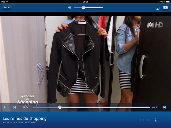 black jacket les reines du shopping