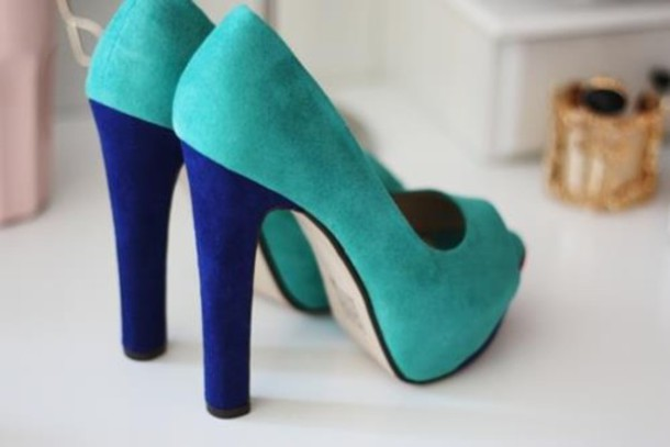 shoes turquoise high heels blue shoes blue heels