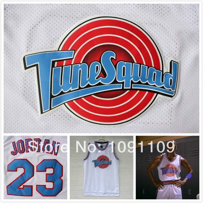 vlitof Jordan 23 Space Jam Jersey White, Cheap Basketball Jerseys Tune