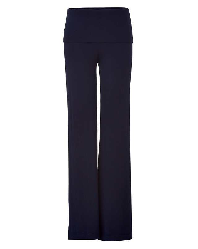 Ink Blue Cashmere Blend Pants from DONNA KARAN NEW YORK | Luxury fashion online | STYLEBOP.com
