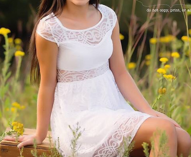 dress white dress summer dress sundress lace