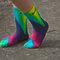 Chevron tie dye nike socks, free hand art, bright and fun, sports team, athletic wear, lime, turquoise, fuchsia pink, navy tie dye crew