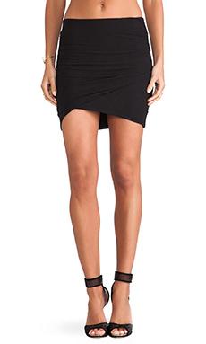 James Perse Wrap Mini Skirt in Black from Revolve.com