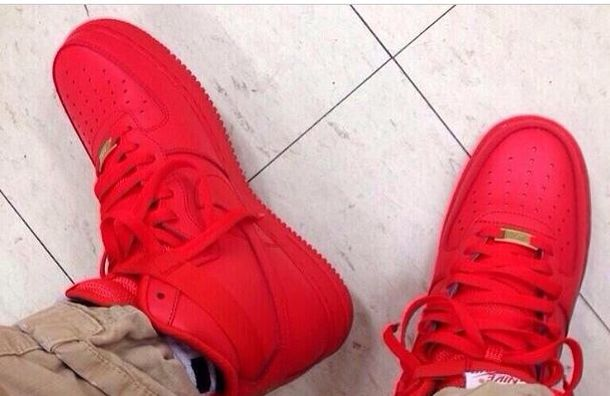 all red air force 1 mid