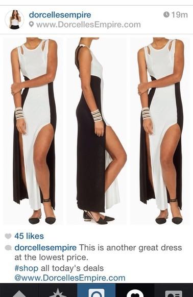 maxi dress high-low dresses black