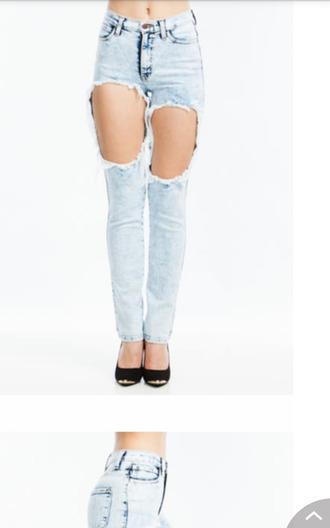 jeans high waisted pants holes