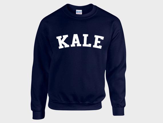 Kale sweatshirt, jumper, graphic sweatshirt, adult sweater