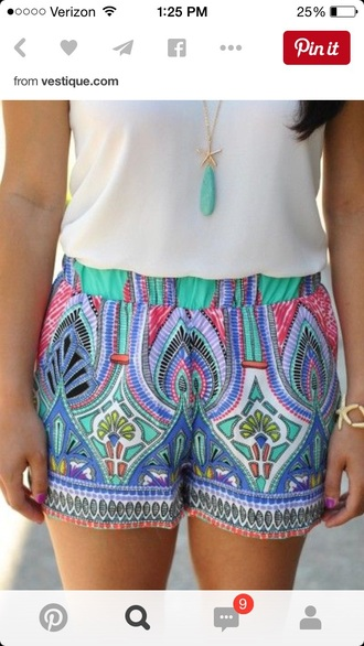 shorts cute pretty indie hipster grunge vintage girly classy summer cool trendy beautiful colorful shorts style indie boho boho chic bogo hippie fashion casual printed shorts tribal shorts summer shorts