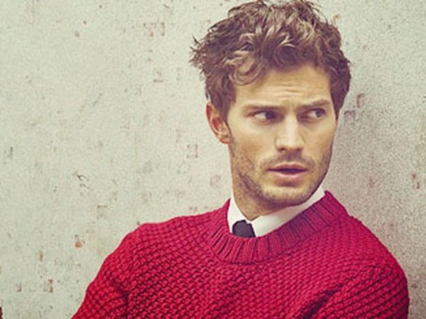jamie dornan red sweater mens sweater menswear