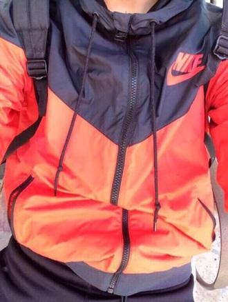 jacket nike windbreaker sweater where can i find this windbreaker? ? nike windbreaker nike windrunndr orange black
