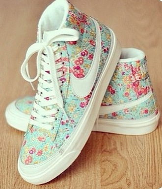 shoes nike shoes liberty flowers pastel white pink basket casual nikes high top nikes nike leopard print nike sportswear dress blue nike sneakers