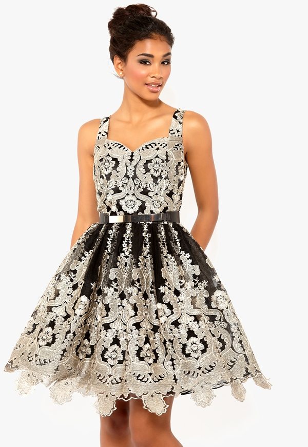 cfb3462a Chi-Chi Baroque Skater Dress - Bubbleroom