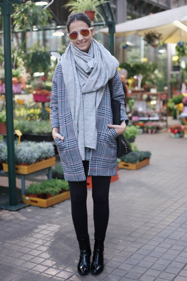 style in lima coat scarf shirt sunglasses shoes bag
