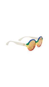 sunglasses,round sunglasses,rainbow,white