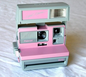 blogger polaroid camera photography technology pink