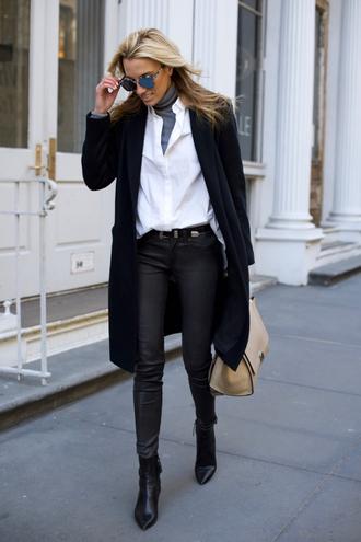 mind body swag blogger top shirt pants coat belt shoes bag sunglasses western belt