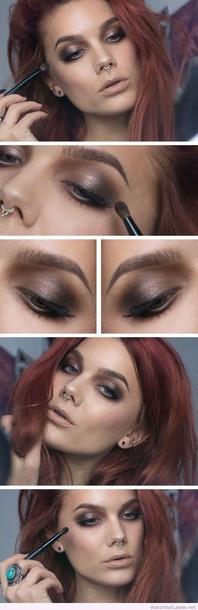 make-up linda hallberg brown makeup brown makeups