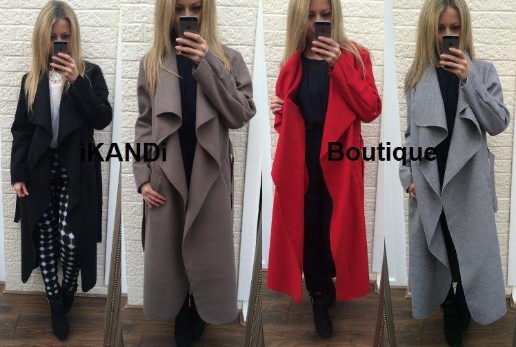 New womens ladies waterfall long sleeve fallaway open cape cardigan jacket coat