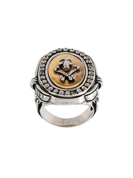 Alexander Mcqueen skull metallic women ring jewels