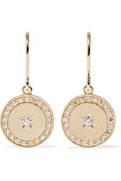 ANDREA FOHRMAN moon earrings gold jewels